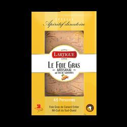 Foie gras de canard entier mi-cuit du Sud-Ouest au vin de sauternes LARTIGU E ET FILS, 150g