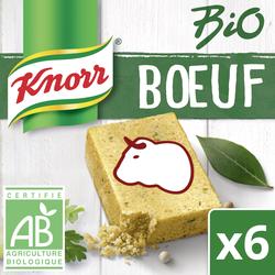 Bouillon de boeuf bio KNORR, 6 tablettes soit 60g