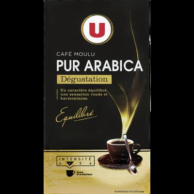Café arabica moulu dégustation U, paquet de 250g
