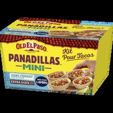 Kit mini barquitas sans piment OLD EL PASO, boîte de 334g