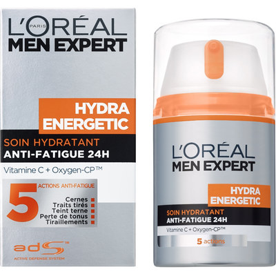 Soin hydratant anti-fatigue pour homme Hydra Energetic MEN EXPERT, flacon de 50ml