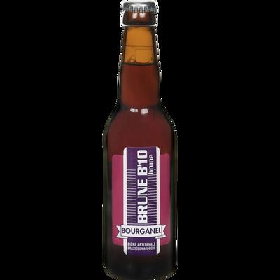Bière brune b10 BOURGANEL 6.5°, bouteille de 33cl