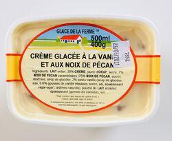 Crème glacée noix de pécan, GLACE DE LA FERME, bac 500ml