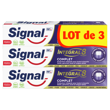 Signal Dentifrice Integral 8 Complet Signal 3x75ml