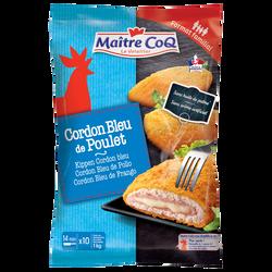Cordon bleu de poulet MAITRE COQ, sachet surgelé de 1kg