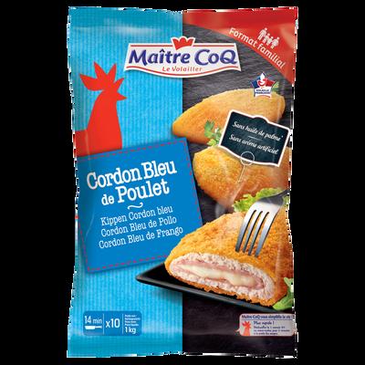 Cordon bleu de poulet MAITRE COQ, sachet de 1kg