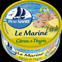 Thon mariné citron & thym PETIT NAVIRE, 1/5, 110g