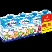 Bridelice Crème Uht Fluide Légère 12% De Matière Grasse Bridelice, 3x20cl + 1 Offert
