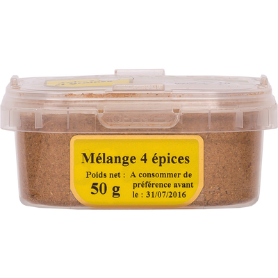 Melange 4 épices, pot 50g