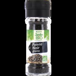 Poivre noir en grain JARDIN BIO, pot en verre de 45 g