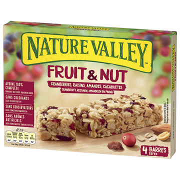 Valley Barres Fruits Et Nuts Cranberry Valley 4x30g