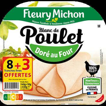 Fleury Michon Blanc De Poulet Doré Au Four Fleury Michon 8 Fines Tranches+3 Offertes330g