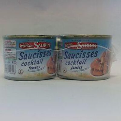 SAUCISSE COKTAIL LOT 2X1/4 WILLIAM SAURIN