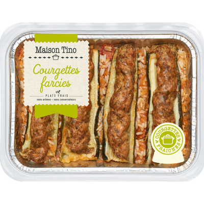 Courgettes farcies, 800g