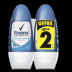 Déodorant women fraîcheur continue REXONA, bille 2x50ml