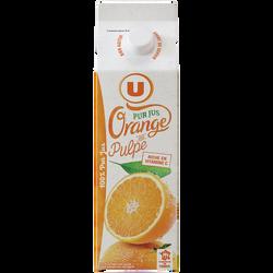Pur jus d'oranges pressées avec pulpe réfrigéré U, 1l