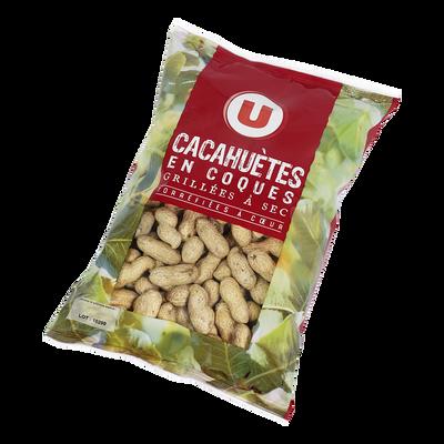 Cacahuètes en coques, U, sachet 500g