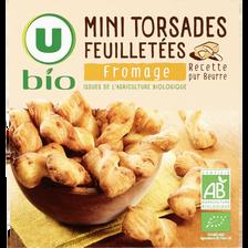 Mini flûte au fromage U BIO, paquet de 75g