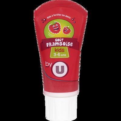 Dentifrice kids goût framboise BY U, tube de 50ml
