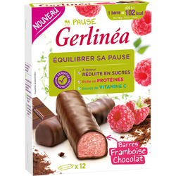 Ma Pause barres framboise chocolat GERLINEA, 372g