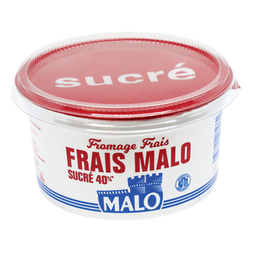 Malo Fromage Frais Sucré Malo, 7% De Mg, Pot De 500g