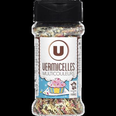 Vermicelles multicolores U, flacon de 60g