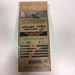 Thé noir earl grey BIO, ATELIER DES CAFES ET THES, paquet 100g