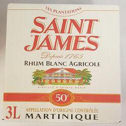 Rhum blanc, AOC de Martinique, SAINT JAMES, 50°, bib de 3l