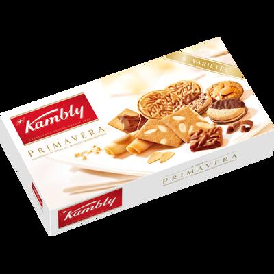 Assortiment biscuits suisses Primavera KAMBLY, boîte de 175g