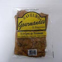 6 crêpes de Froment - Sans cannelle - Sans conservateur - Faites à la main - SAVEURS GOURMANDES de Fouesnant - 275 g