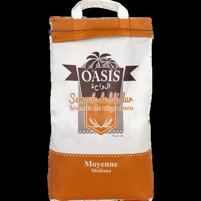 Semoule de blé dur moyenne OASIS, paquet de 5kg