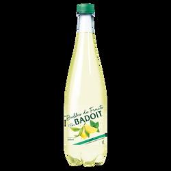 Boisson gazeuse BADOIT Bulles de fruits Citron-Citron vert 1L