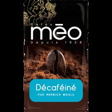 Café moulu Décaféiné MEO, paquet de 250g