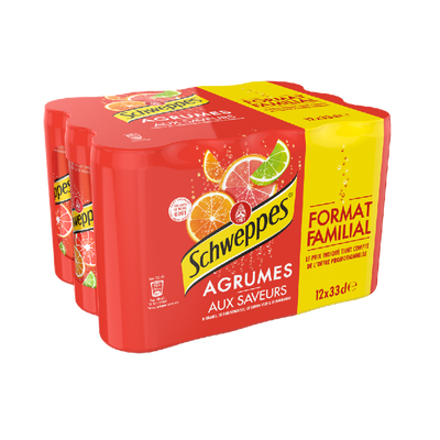 SCHWEPPES agrum' slim can 12x33cl format familial