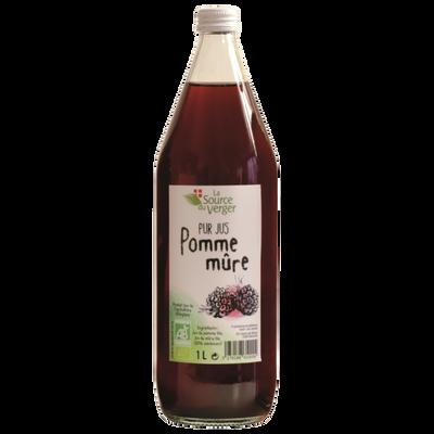Jus de pomme mure bio LA SOURCE DU VERGER, bouteille 1l