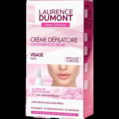 Crème dépilatoire visage LAURENCE DUMONT Haute Tolérance, tube de 20ml