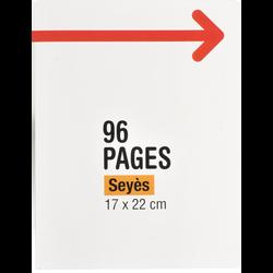 Petit cahier piqure, grands carreaux, 17x22cm, 96 pages
