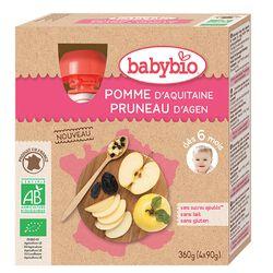 Gourde Pomme Pruneau BABYBIO dès 6 mois 4x90g