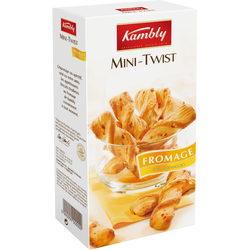 Mini twist au fromage KAMBLY, 100g