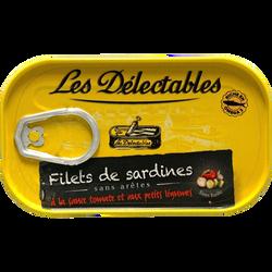 Filets de sardines marinade citron basilic LES DETECTABLES, 120g