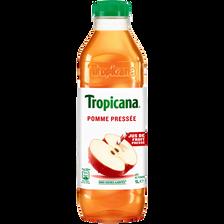 Jus de pomme pressée TROPICANA, bouteille de 1l
