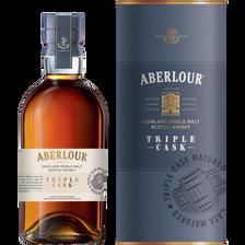 Whisky ABERLOUR triple cask, 40°, bouteille de 70cl