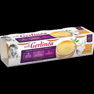 Repas minceur crème goût vanille caramel GERLINEA, 3x210g ...