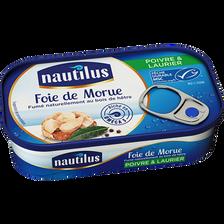 Foie de morue poivre et laurier, NAUTILUS, 115g