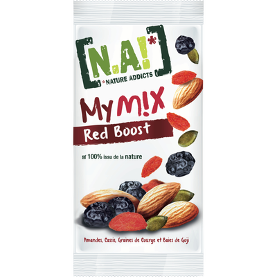 My mix red boost Nature Addicts N.A!, paquet de 40g