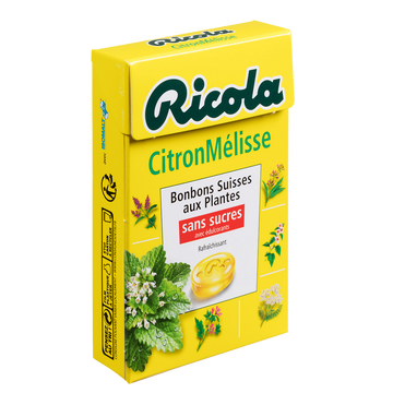 Ricola Bonbons Citron-mélisse Sans Sucre Ricola, Boîte De 50g