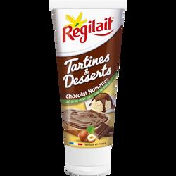 Tube chocolat noisette pour tartines et desserts REGILAIT, 300g