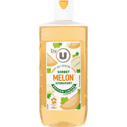 Gel douche parfum sorbet melon BY U, flacon de 250ml
