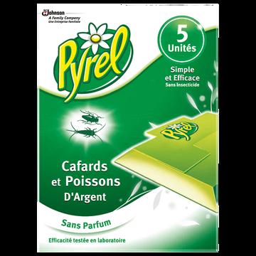 Pyrel Pièges Écologiques Anti-cafards Et Blattes Pyrel, Sachet De 5