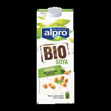 Boisson au soja bio UHT ALPRO, brique de 1 litre